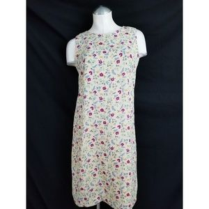 Maggy London Size 4 Tan Floral Dress Sleeveless